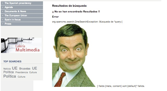 Mr Bean en la Presidencia Española