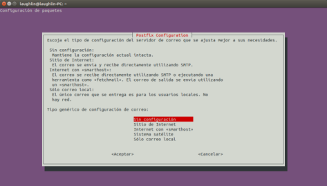 Configuracion del servidor de correo