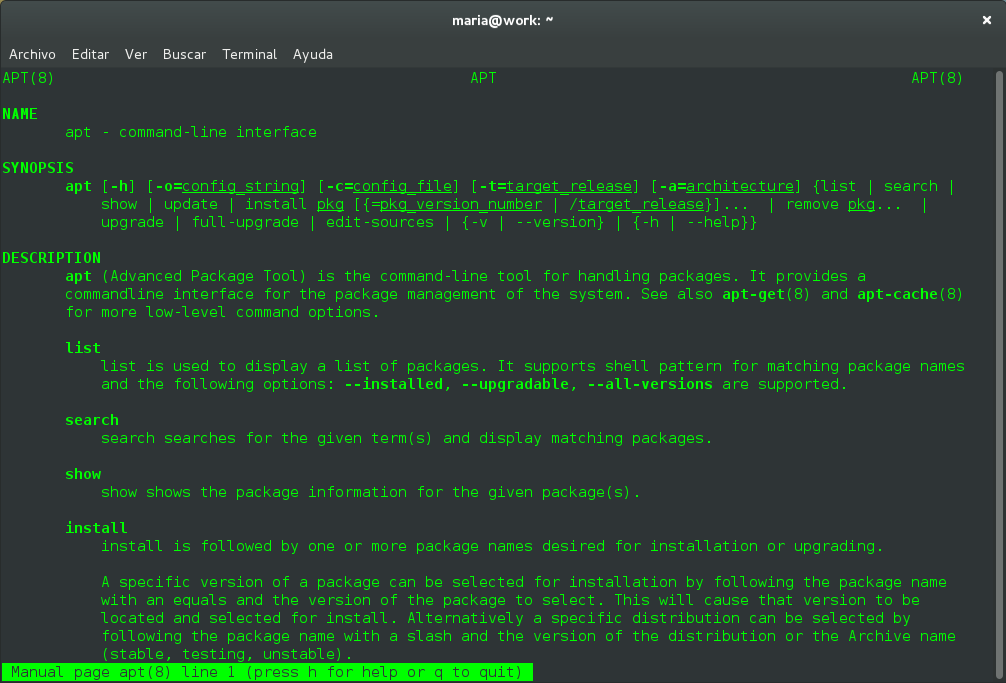 Instalar aplicaciones en Ubuntu desde la Terminal con APT