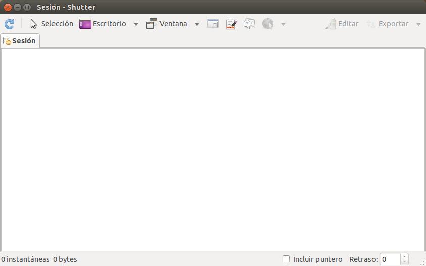 Capturar pantalla con Shutter