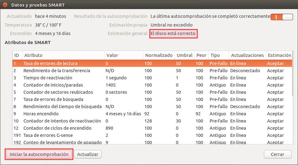 Disk Utility datos SMART