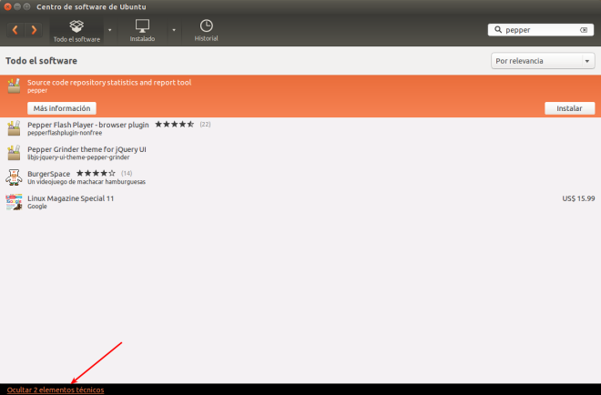 Instalar PepperFlash desde Ubuntu Software Center