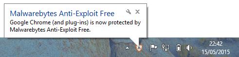 Malwarebytes Anti-Exploit Popup