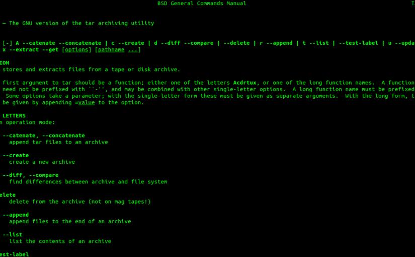 La Terminal de Linux (VII). Comprimir y DescomprimirArchivos