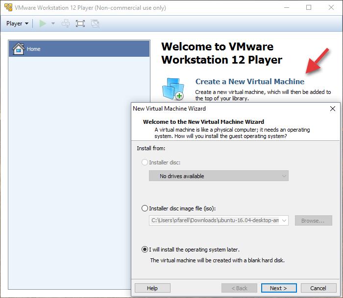 VMWare: Crear Una Nueva Maquina Virtual