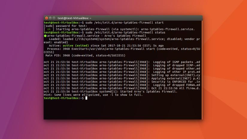Linux Habilitar Firewall Arno Iptables