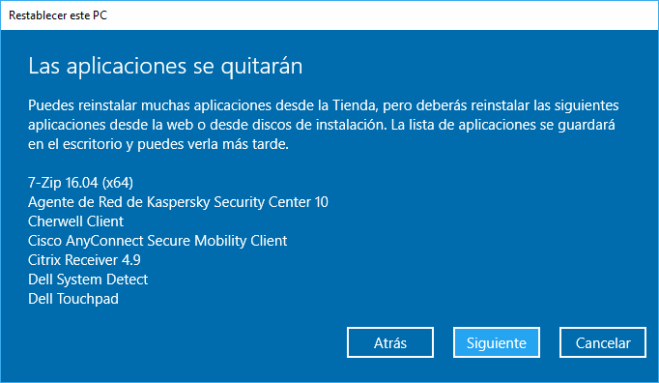 Windows 10: Restablecer PC Manteniendo Archivos