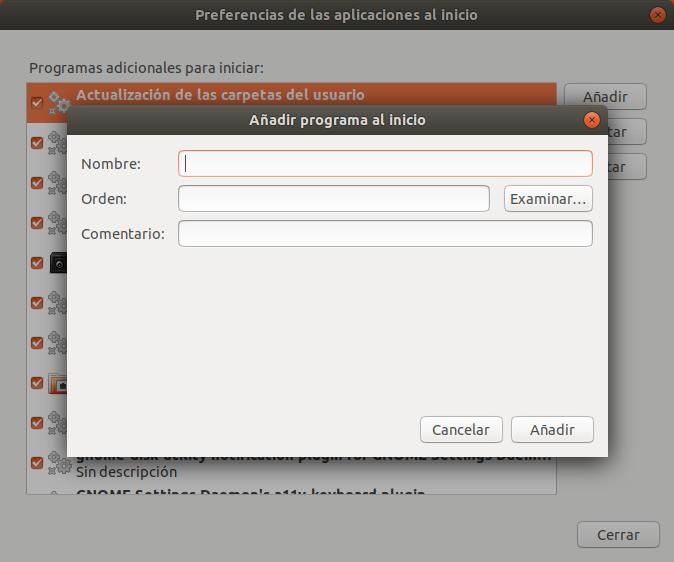 Ubuntu Añadir Aplicación al Inicio
