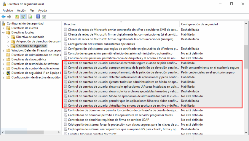 Windows. Secpol Directivas Locales Seguridad