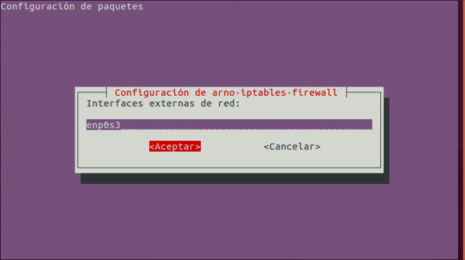 Arno Iptables Firewall: Configurar Interfaz de Red Externa