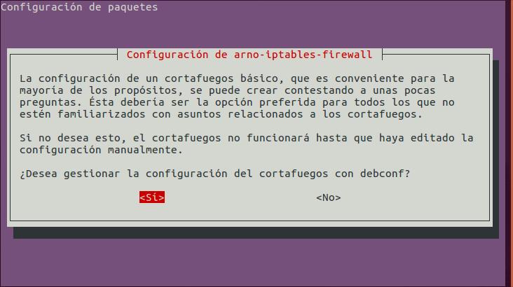 Arno Iptables Firewall: Configuración Inicial
