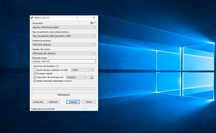 Como Crear un Pendrive USB Booteable en Windows 10 con Rufus