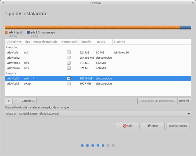 Instalación de Xubuntu: Cargador de Arranque