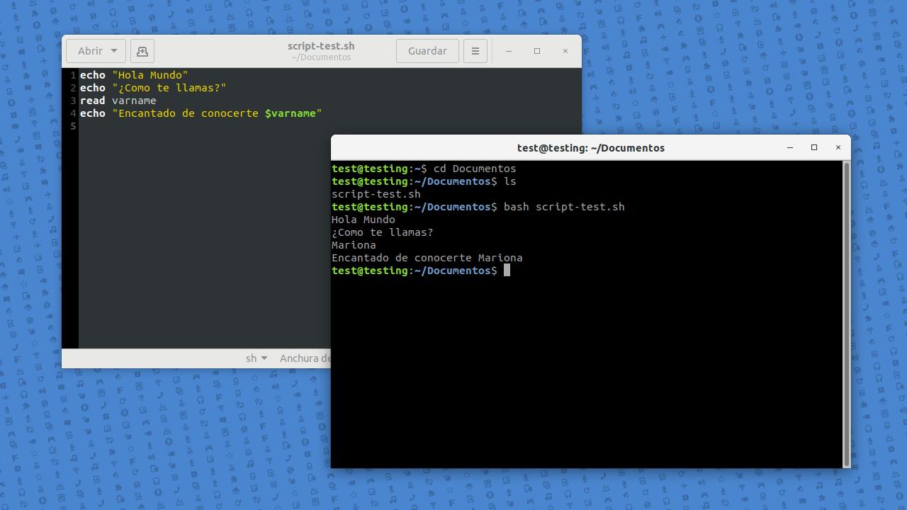 Scripting en Linux con Bash. Crear y Ejecutar Script