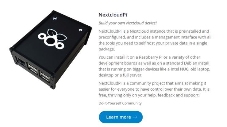 Dispositivo con Nextcloud