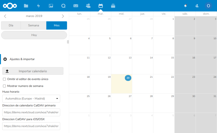 Nextcloud Calendar