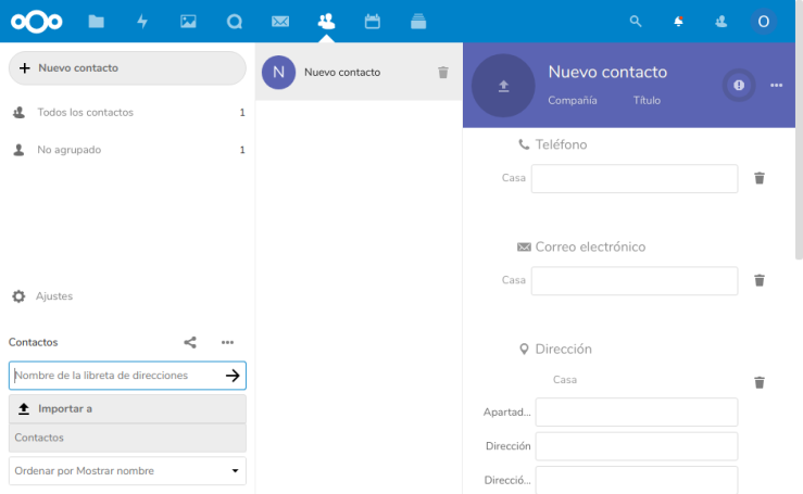 Nextcloud Contacts