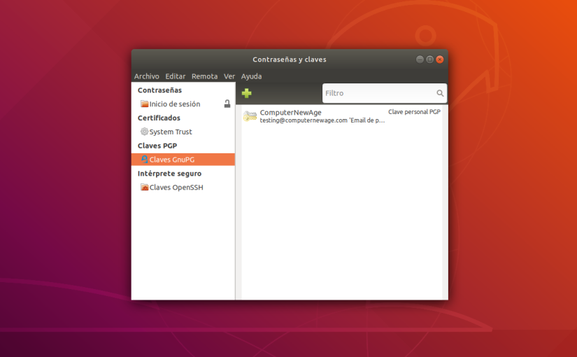 Como Administrar tus Claves GPG en Linux conSeahorse