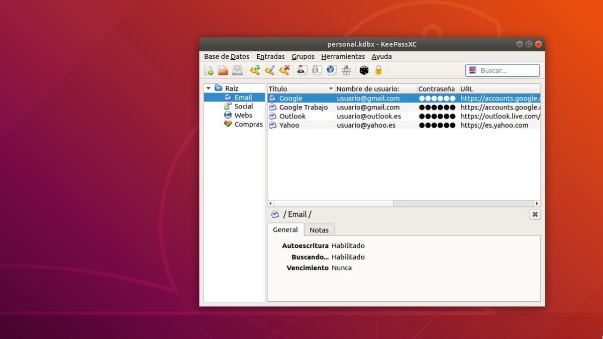 KeePassXC. Gestión de Contraseñas en Linux