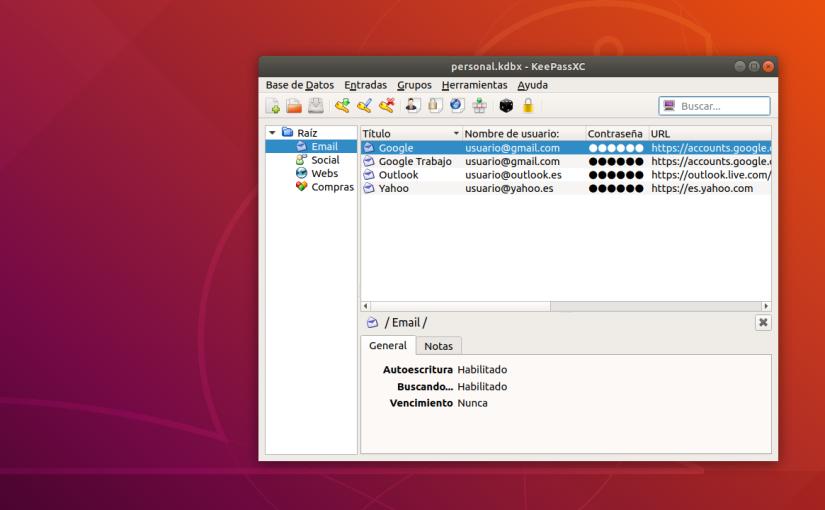 KeePassXC para la Gestión de Contraseñas en Linux. GuíaCompleta